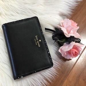 Kate spade black glitter tellie wallet